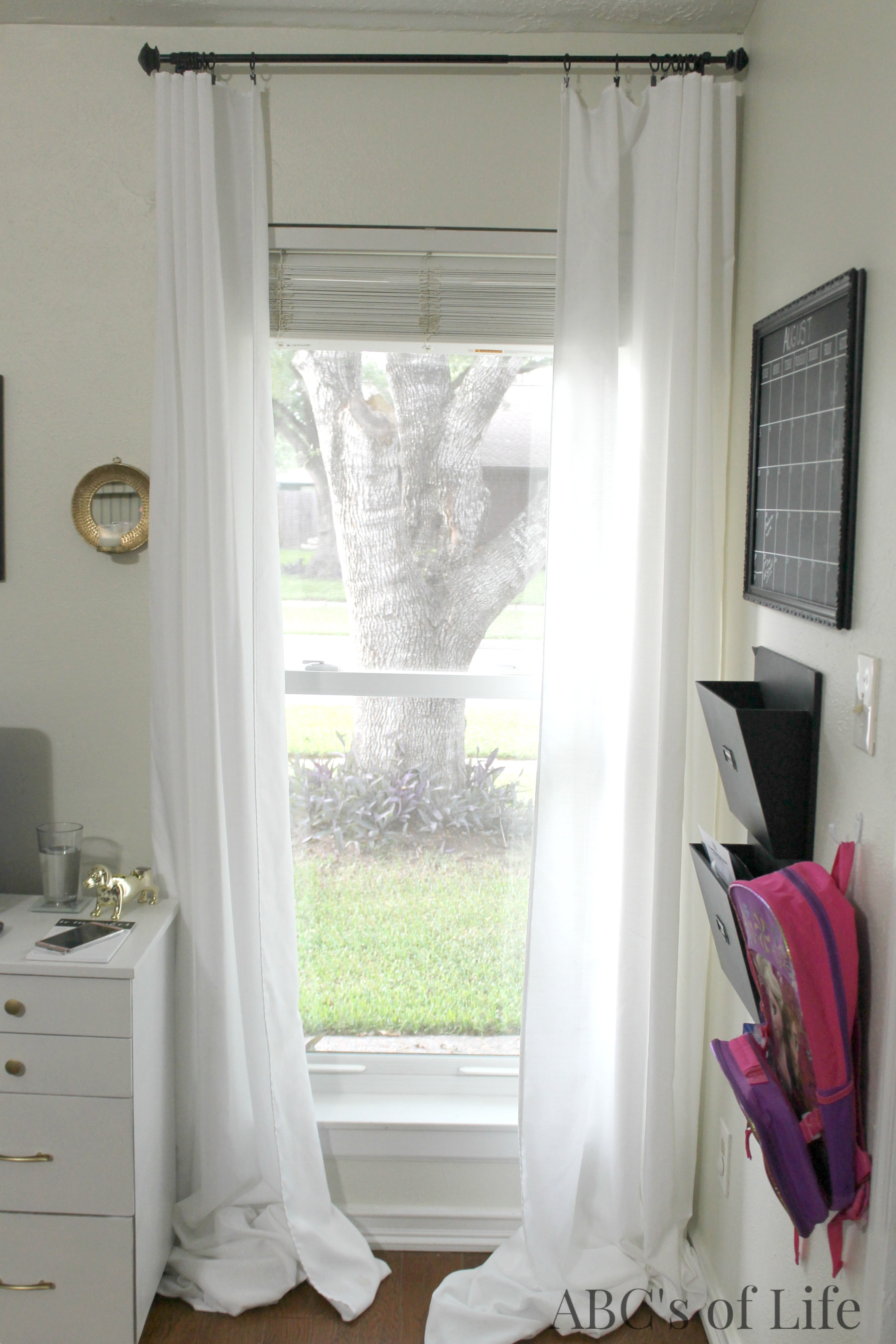 Inexpensive curtain panels
