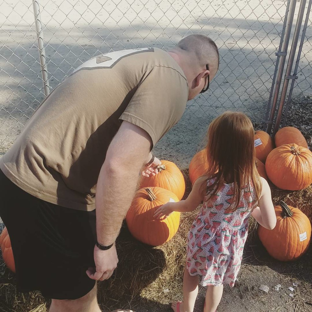 Picking out a pumpkin at Froeberg farms in Alvin! Therehellip