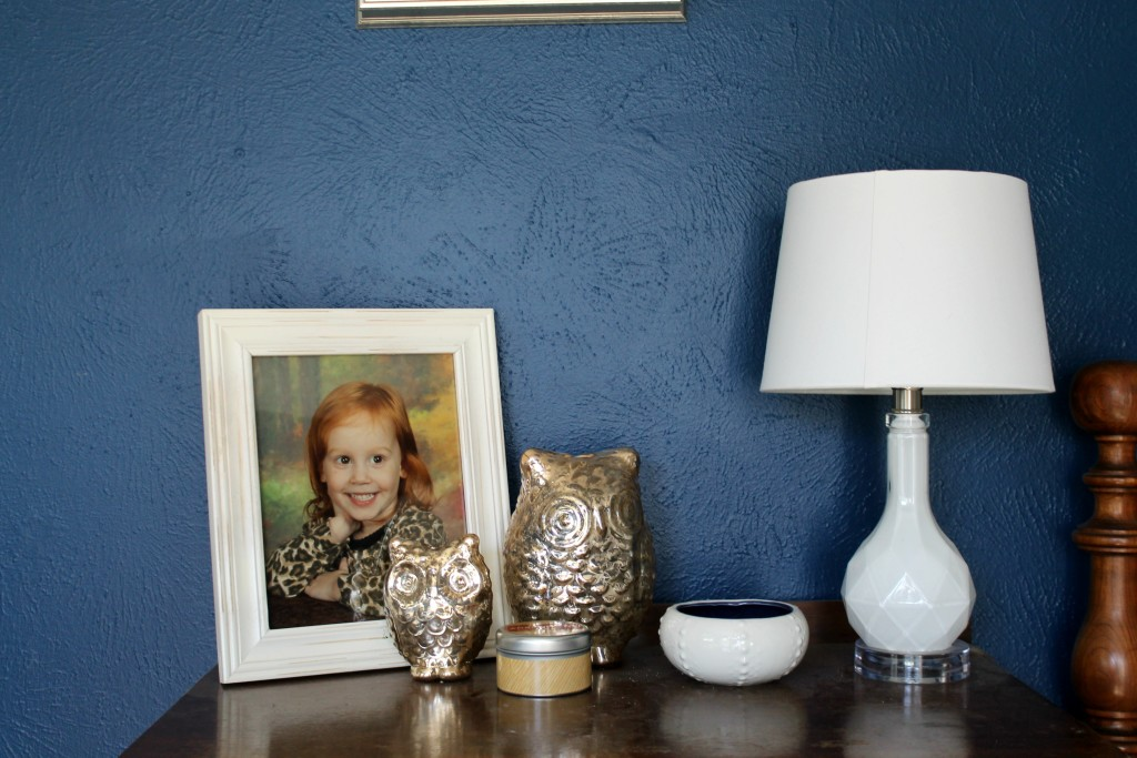 Navy And Gold Bedside Lamps: Navy & Gold Guest Bedroom Reveal