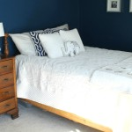 Navy & Gold Guest Bedroom Reveal