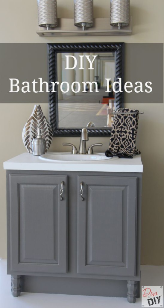 10 amazing diy bathroom ideas ashley nicole designs for Bathroom designs diy