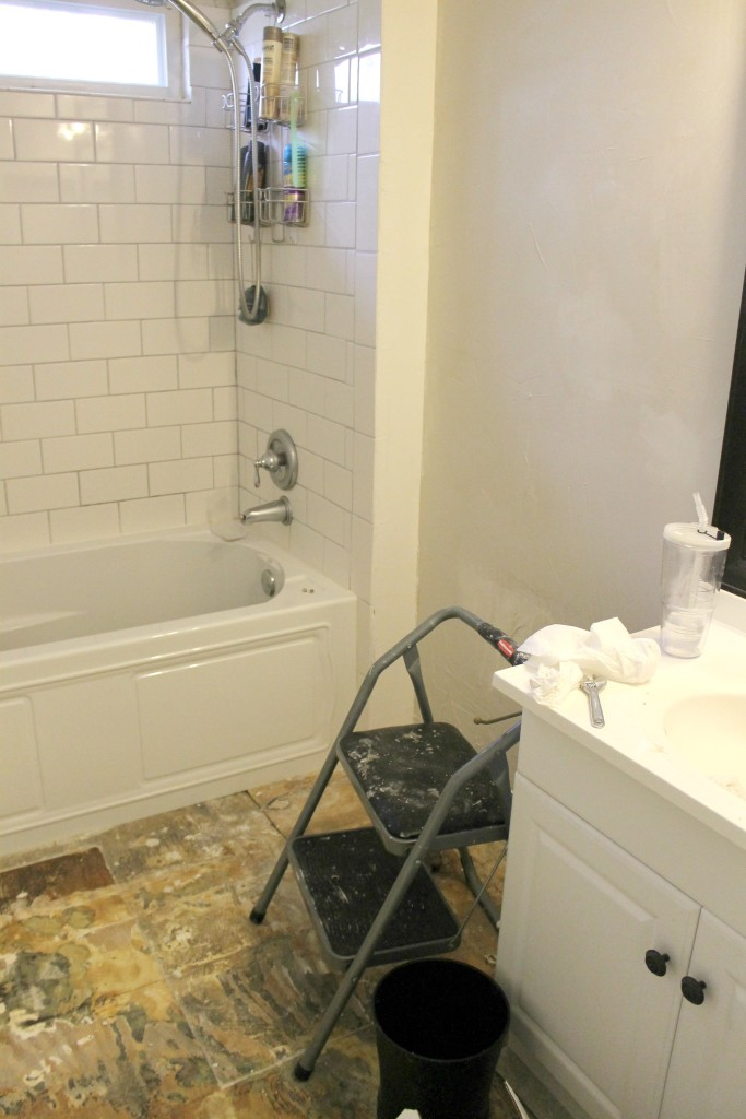 farmhouse style master bath reno