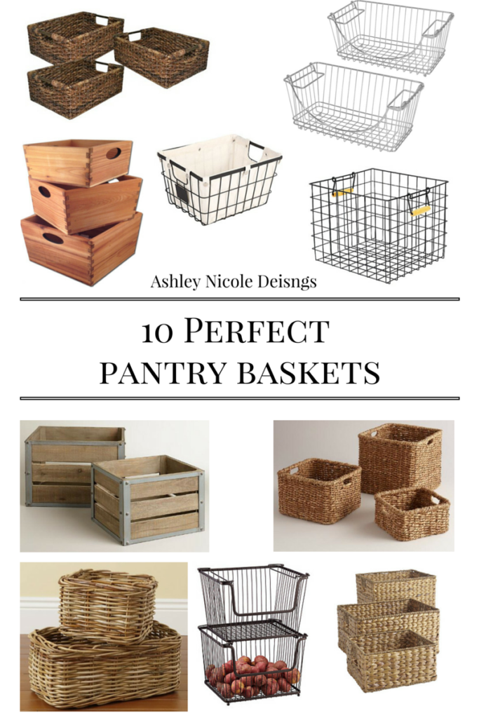 10 perfect pantry baskets that fit any style, taste, or budget!