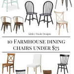 10 Farmhouse Dining Chairs Under $75
