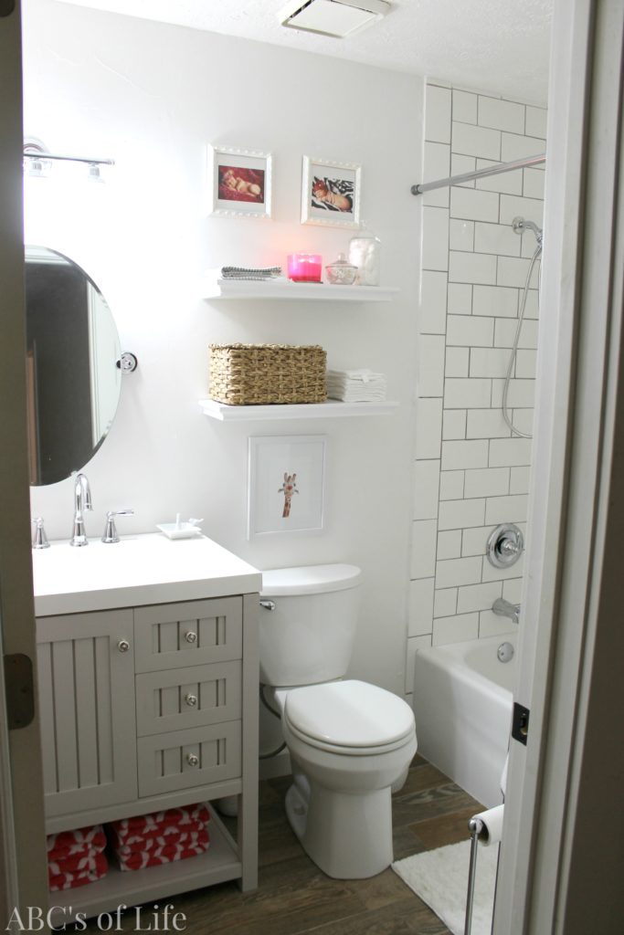 Guest Bath in a Traditional Home Tour with Farmhouse Flair