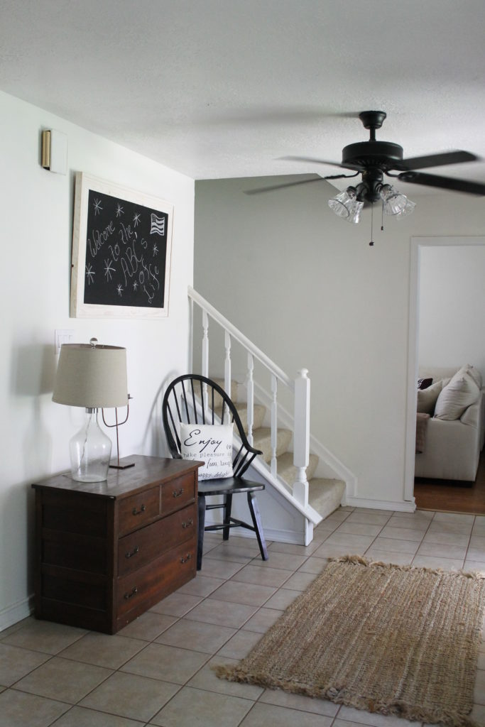 Entry in a Traditional Home Tour with Farmhouse Flair