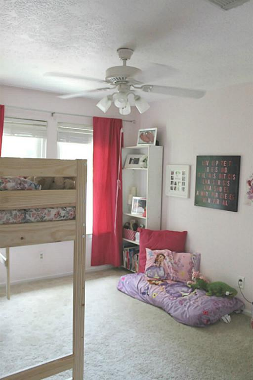 Sweet Girl's Room in a Traditional Home Tour with Farmhouse Flair