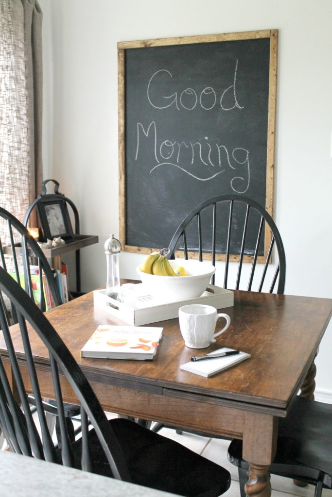 Breakfast Area in a Traditional Home Tour with Farmhouse Flair
