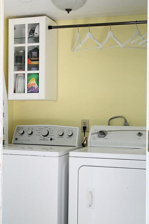 Laundry Room in a Traditional Home Tour with Farmhouse Flair