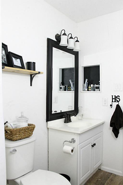Master Bath in a Traditional Home Tour with Farmhouse Flair