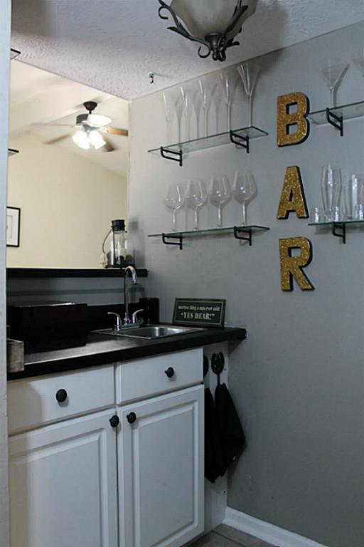 Wet Bar in a Traditional Home Tour with Farmhouse Flair