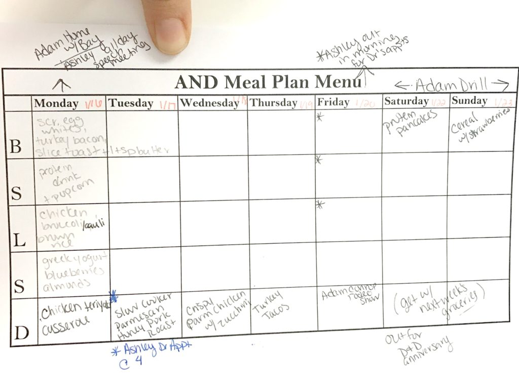 How I plan for meal prep!