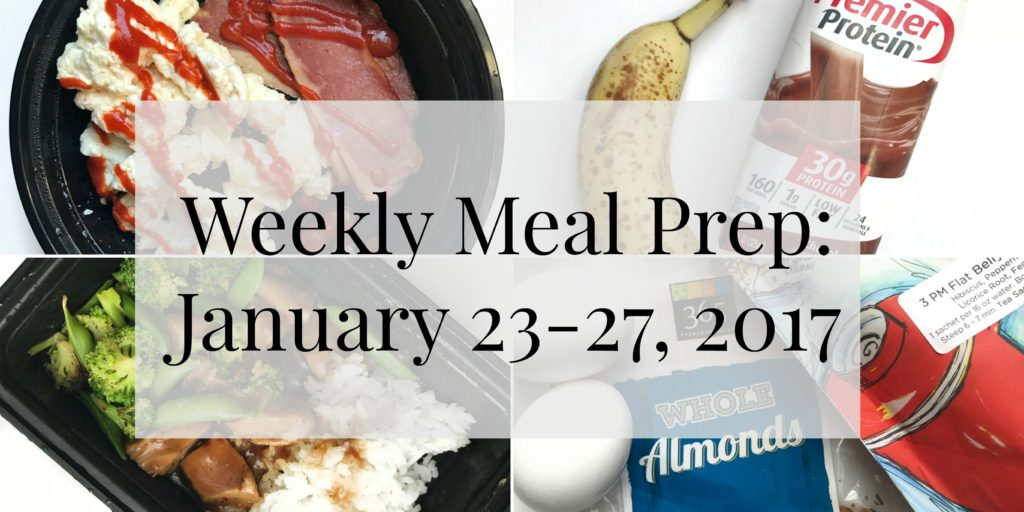 Weekly meal prep for the week of January 23-27