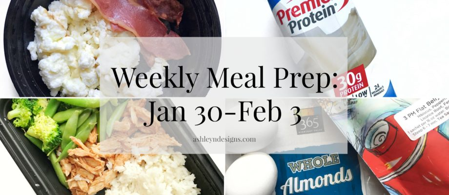 Weekly Meal Prep: January 30-February 3